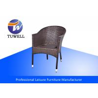 China Anodizing Comfortable Sturdy Wicker Rattan Chairs Wth Stackable Structure wholesale