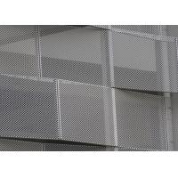 China Corrosion Resistance Decorative Perforated Metal , Decorative Sheet Metal Panels Kinetic Facade Waves wholesale