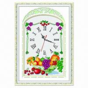China DIY Cross stitch kits embroidery needle work pre-printed novelty clock on sale