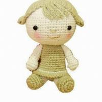 Buy cheap Crocheted Doll Toy, Made of Cotton, Suitable for Children from wholesalers