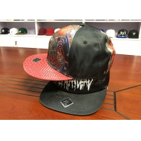 China Customized colors special material embroidery logo flat brim snapback hats caps wholesale