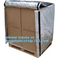China Aluminum Foil Bubble Insulation Material Vapour Battier Pallet Cover, Thermal insulated pallet blankets, wholesale