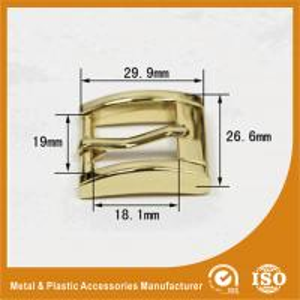 China OEM Buckle Size 30X26.5X19MM Metal Zinc Buckle For Handbag Accessories Footwear wholesale