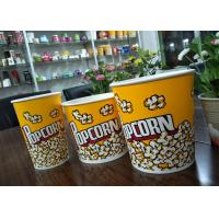 China Food Grade 64oz 85oz 130oz Paper Popcorn Buckets Generic Yellow wholesale