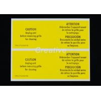 Quality Package White Vinyl Die Cut Bumper Sticker Labels For Electronic Products for sale