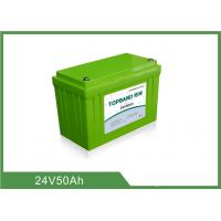 China 24V 50Ah Rechargeable Lithium Iron Phosphate Battery  High Energy Density wholesale