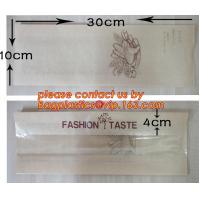 China OEM High Quality Enviromental Clear Window Bread Toast Paper Bags, Brown Kraft Sharp Bottom Food Safe Snack Paper Bags w wholesale