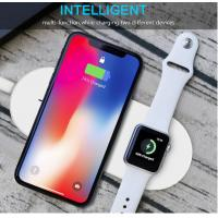 Two In One Wireless Phone Charger For Apple Air Pads Charging Temp Below 40