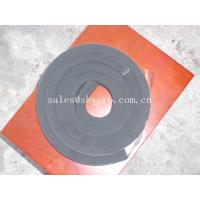 China Black neoprene tape strip with self-adhesive PSA backing one side on sale