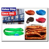 China Industrial Endless Round Slings 2 Ton Green For Large Steel Bars Eco Friendly wholesale