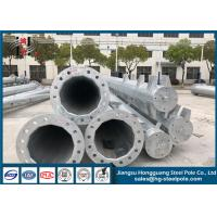 Steel Hot Dip Galvanized Electrical Power Pole For Transmission Line Project