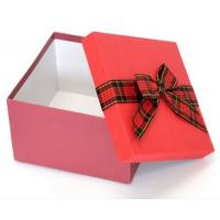 China Grey Cardboard Custom Paper Gift Box With Ribbon Bow , Gift Packing Box wholesale