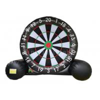 China 5 m * 4 m Air Black Soccer Dart Board Player Training Inflatable Yard Games Football Target on sale