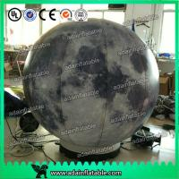 China 2m Customized Inflatable Moon Planet Decoration With LED Light wholesale