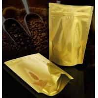 China heat seal and custom printing aluminum foil zip lock stand up bag with clear window, coffee packaging wholesale