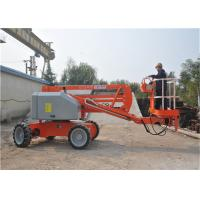 China Telescopic Self Propelled Boom Lift 4*2 AC Drive With Manual Emergency Pump on sale