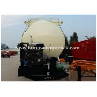 China Reinforced steel Cement semi Trailer for dry bulk powder material transportation with warranty wholesale