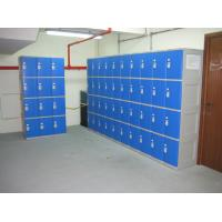 China Highly Water Resistant Red Shoe Storage Locker Gray Body 4 Comparts per Column wholesale
