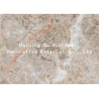 China Home Wall Decor Adhesive Vinyl Film , Marble Effect Plastic Sheet Smoke Proof wholesale