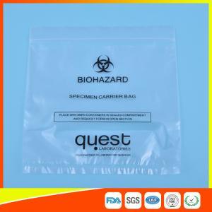 Leak Proof Soft Specimen Transport Bags For Transporting Lab Specimens