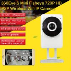 China EC1 360Eye S 185degree Panorama Camera iOS/Android APP Night Vision 720P CCTV IP P2P WiFi Wireless Surveillance Security wholesale