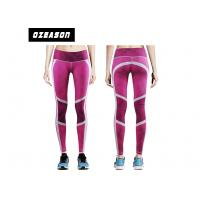China Slim Pink Sport Compression Clothing , Women's Fitness Leggings wholesale