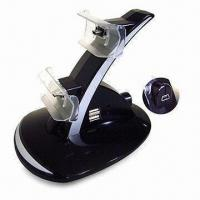 China Charger Stand for Sony PSX3 Wireless Gamepad, with Blue LED Light, Can Charge 2 Controllers wholesale
