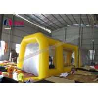 China Pvc Tarpaulin Inflatable Paint Booth , Yellow Color Portable Spray Booth For Cars wholesale