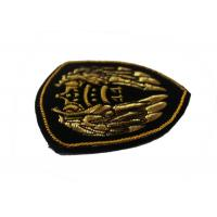 China School Uniform Embroidered Badge Gold Angle Wings Embroidered Shoulder Patches on sale