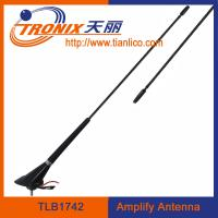China car electronic antenna with cable length 5.2m/ black color car amplifier antenna/ car am fm antenna TLB1742 wholesale