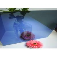 China Flat Shape Dark Blue Reflective Glass , Reflective Tempered Glass Sample Available wholesale