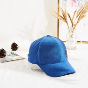 China Winter Blue Towel Velvet Warm Leather Patch Sun Hat wholesale