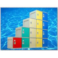 China Yellow 4 Tier Lockers with On - Site Assembly For Swimming Pool wholesale