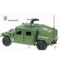 China Green Plated Home Decor Crafts , Electronic Military SUV Vehicles Model wholesale