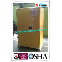 China 90 GAL Grounding Hazardous Waste Storage Cabinets For Flammable Materials Goods wholesale
