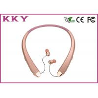 China Neckband Bluetooth Headphones Waterproof With Retractile / Foldable Earbuds wholesale