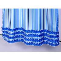 China Colorful Ruffle Bathroom Shower Curtains Waterproof Thickening 100% Polyester wholesale