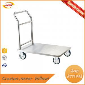 cargo wheel hand barrow with heavy duty platform luggage cart Kunda A-012