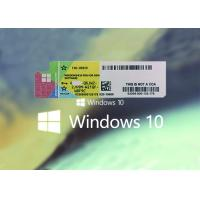 Buy cheap 32 bit 64bit Systems Windows 10 Pro COA Sticker 100% Original Key From Microsoft from wholesalers