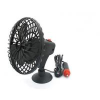 China Mini Black Plactic Vehicle Cooling Fans Dc 12v Portable 4 Inch With Adsorption wholesale