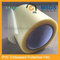 China Adhesive Embossing PVC Protective Film Roll With High Viscosity wholesale
