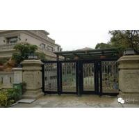 China Aluminum Collapsible Automatic Motorised Sliding Gate With Photo Cell For Private Area Entry wholesale