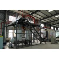 China 20 ton automatic waste tire rubber pyrolysis recycling plant for diesel oil on sale