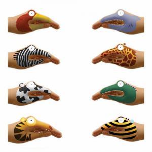 China Cartoon Non Toxic Hand Tattoo Sticker For Kids Finger Child Glue wholesale