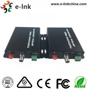 China Black AHD CVI TVI Video Over Fiber Optic Ethernet Media Converter Single Mode Fiber wholesale