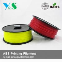 China Durable Red 3D Printer Filaments 3.0mm Plastic High Toughness For Ultibot wholesale