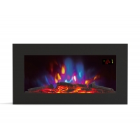 China 36 INCHES WALL MOUNTED FIREPLACE HEATER EF820K PATENTED LED REAL COLORFUL FLAME WOODEN BURNING LOGSET EFFECT ROOM HEATER wholesale