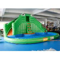 China PVC Tarpaulin Crocodile Commercial Inflatable Jumpers Slides For Event wholesale