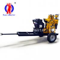 China Supply XYX-130 wheeled water well drilling rig/small truck drill rig/hydraulic core drilling rig convenient to carry on sale