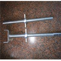 China Zinc Plated Construction Formwork Accessories Steel Adjustable Scaffolding Screw Jack Base wholesale